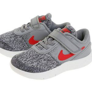 NIKE Flex Contact Toddler 6C Shoes Gray Red